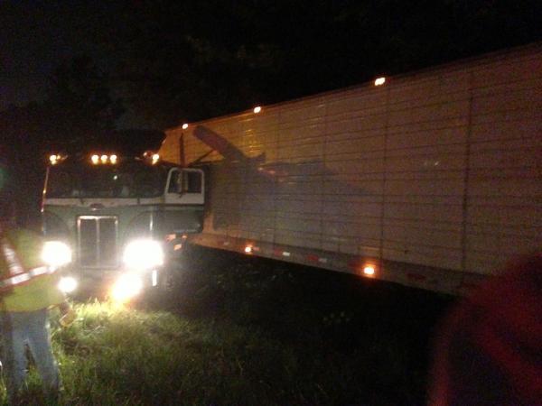 Tractor Trailer Accident, Central Region. Ashland, Virginia