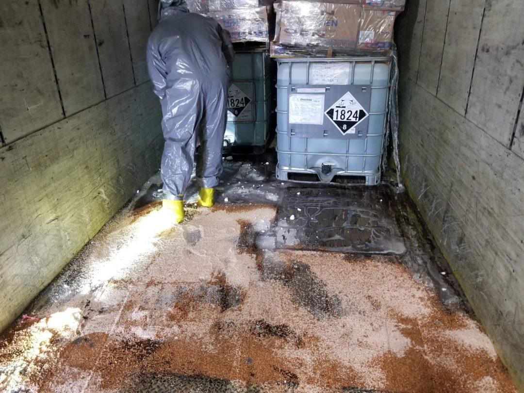 Sodium Hydroxide Release Cleanup