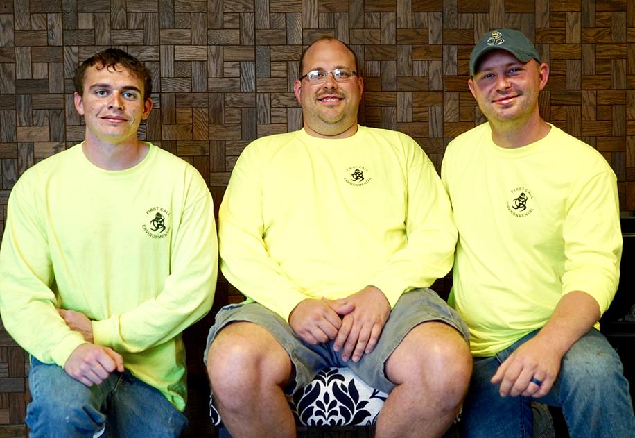 Hazmat team winners Jeff Weer, Steven Arthur and Dylan Whittenburg