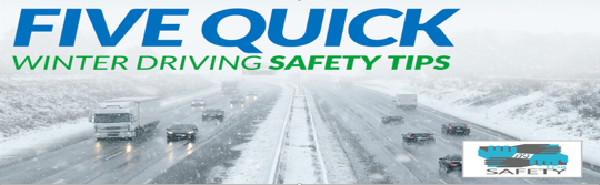 Five Quick Winter Driving Safety Tips